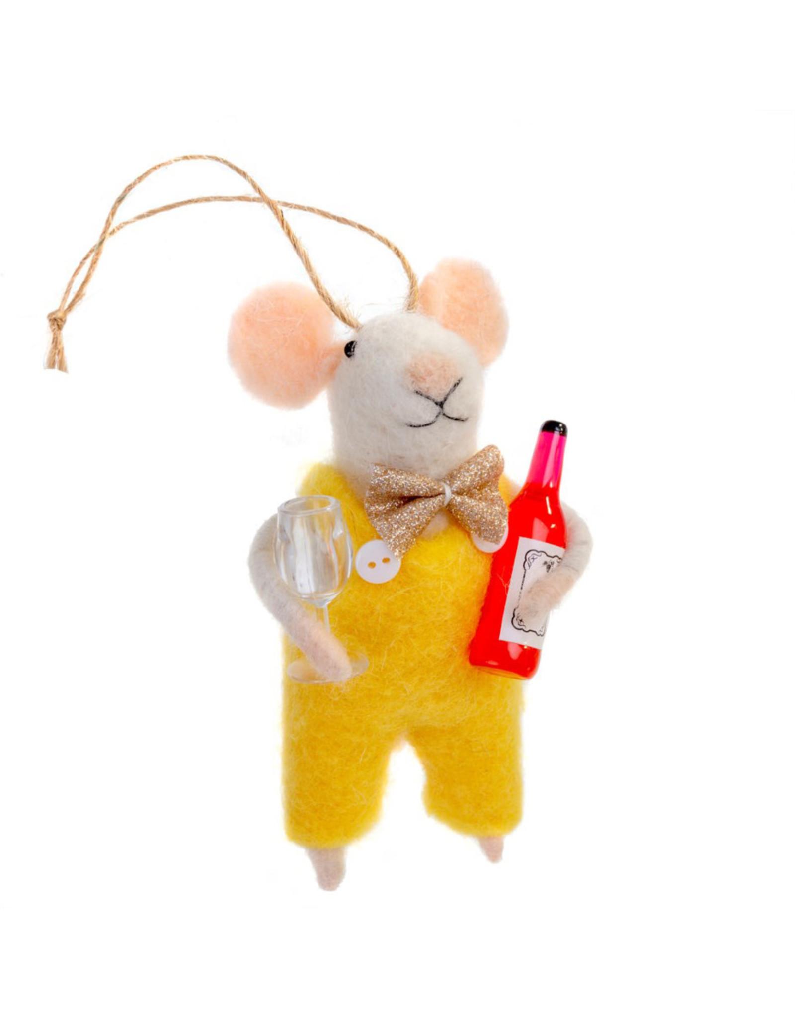 Indaba Wino Winston Mouse Ornament