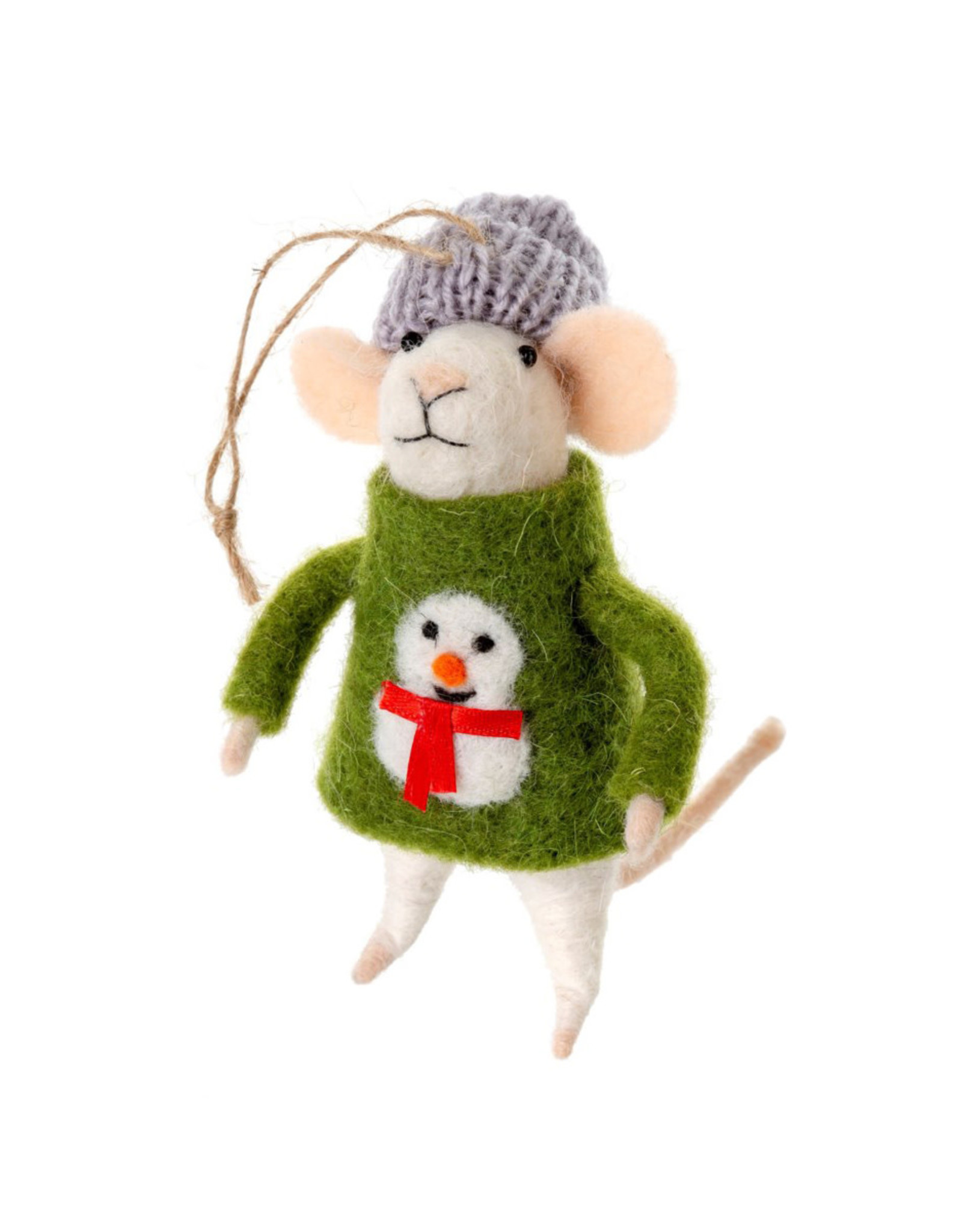 Indaba Ugly Sweater Sid Mouse Ornament