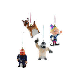 Cody Foster & Co. RETRO RUDOLPH CHARACTER ORNAMENTS - SET OF 4