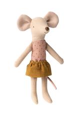 Maileg Big Sister Mouse in Box - Goldenrod Skirt + Polka Dot Shirt