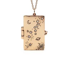 """Sofia Zakia Stardust Book Locket Necklace - 16"""""""