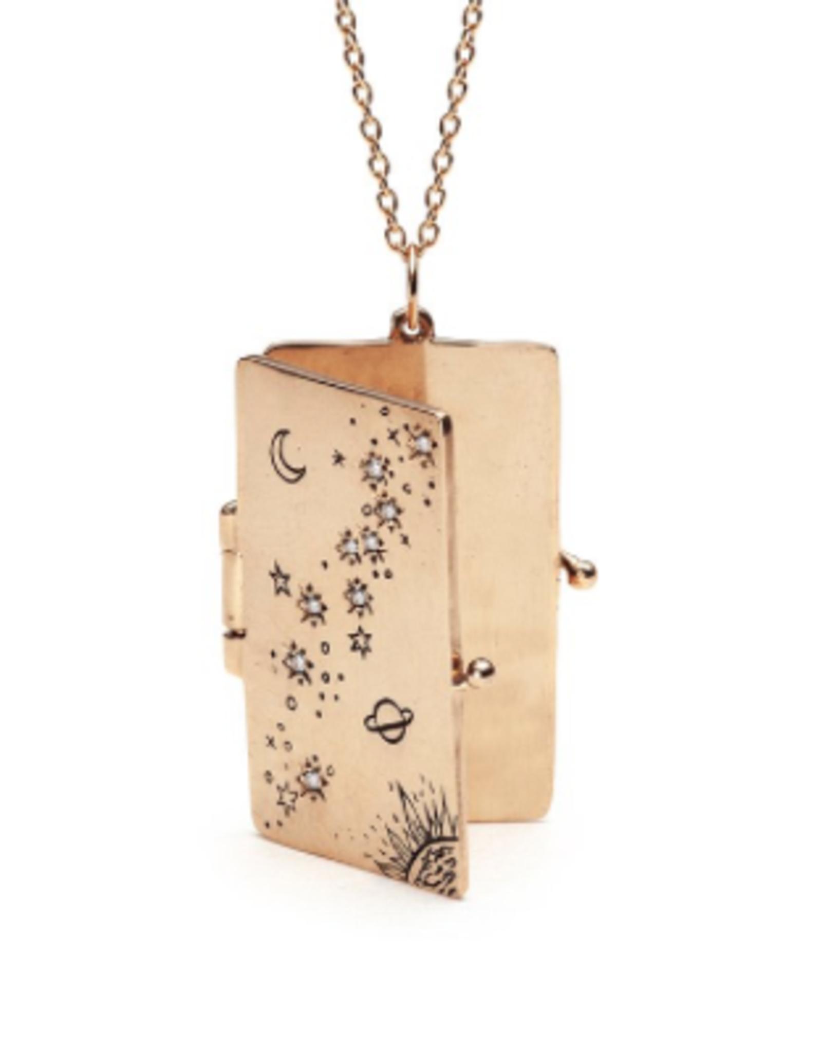 Sofia Zakia Stardust Book Locket Necklace