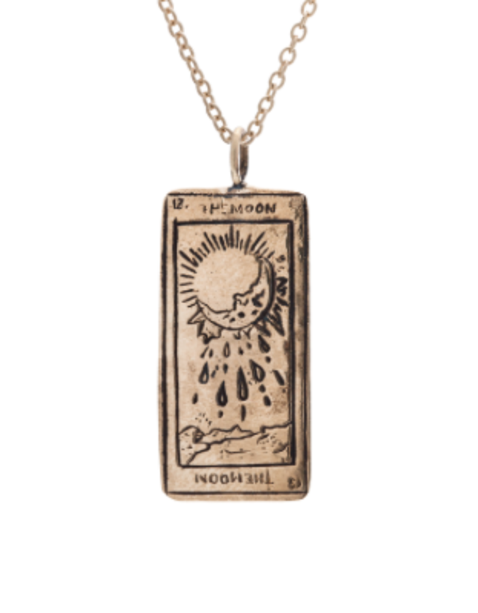 Sofia Zakia Moon Tarot Necklace