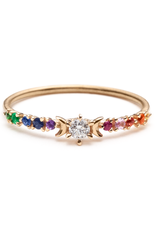 Sofia Zakia Rainbow Stardust Ring