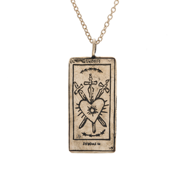 Sofia Zakia Three of Swords Tarot Necklace