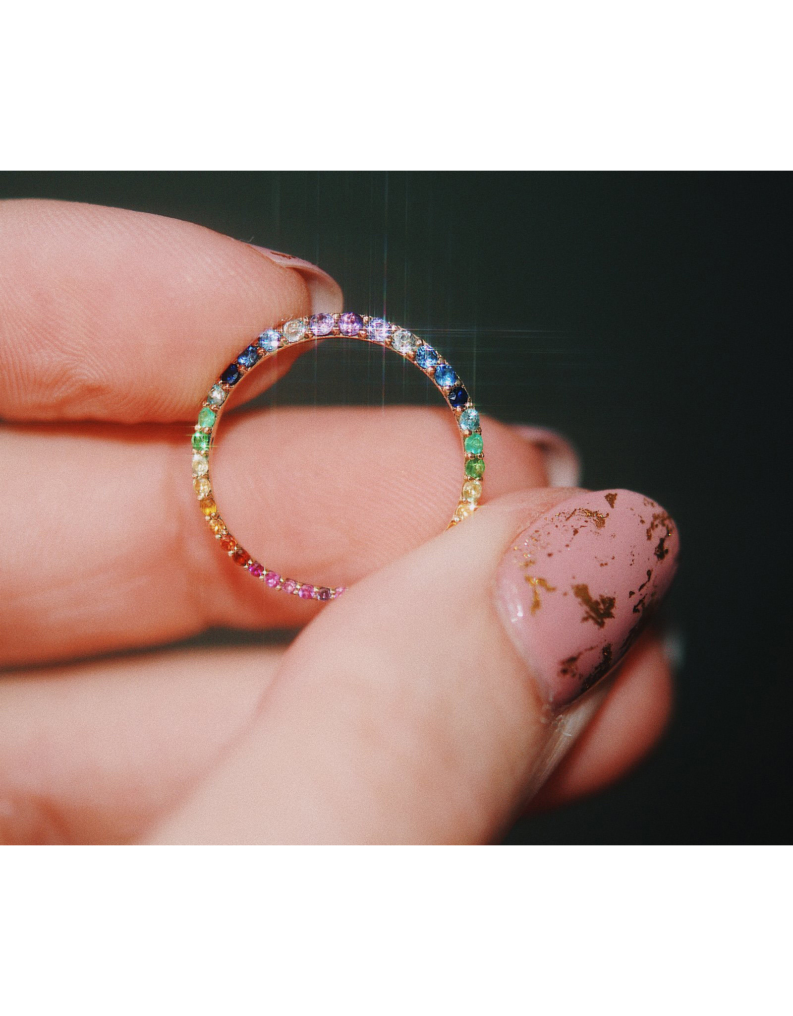 Sofia Zakia Rainbow Ring of Salt
