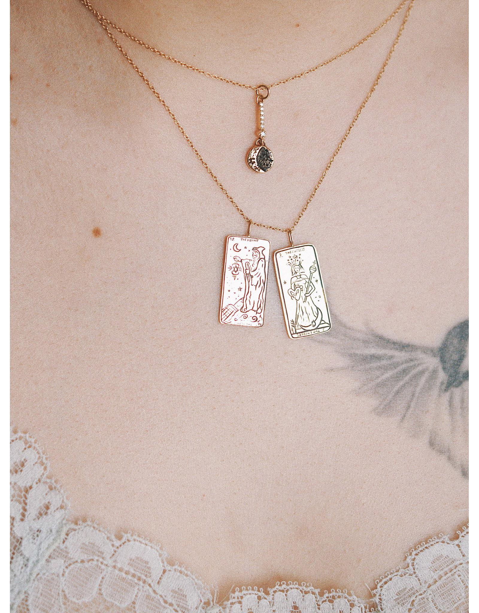 """Sofia Zakia Hermit Tarot Necklace 16"""""""