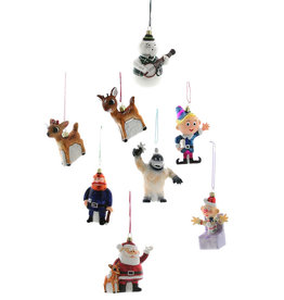 Cody Foster & Co. RETRO RUDOLPH CHARACTER ORNAMENTS - SET OF 8