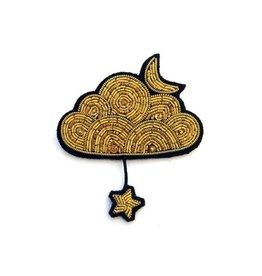 Macon & Lesquoy Gold Cloud + Moon + Star Pin