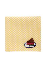 "H Tokyo Handkerchiefs ""Chocolate Cake"" Embroidered Handkerchief"
