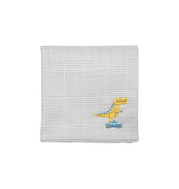 "H Tokyo Handkerchiefs ""Tyrannosaurus"" Embroidered Handkerchief"