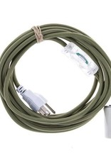 Color Cord Company Porcelain Plug-In Light Cord  - Olive
