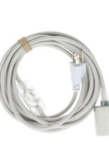 Color Cord Company Porcelain Plug-In Light Cord - Silver