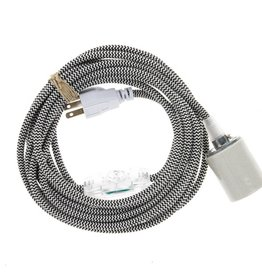 Color Cord Company Porcelain Light Cord - Black and White