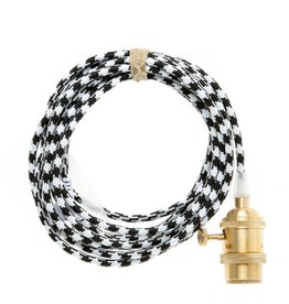 Color Cord Company Brass Light Cord - Houndstooth