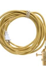 Color Cord Company Brass Plug-In Light Cord - Brass