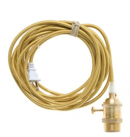 Color Cord Company Brass Light Cord - Brass