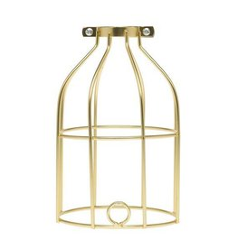 Color Cord Company Industrial Light Bulb Cage - Satin Gold