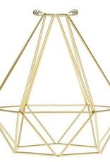Color Cord Company Geometric Light Bulb Cage - Satin Gold