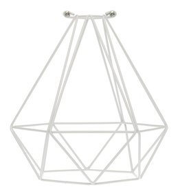 Color Cord Company Geometric Light Bulb Cage - White
