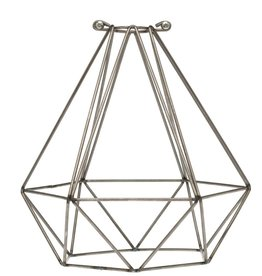 Color Cord Company Geometric Light Bulb Cage - Raw