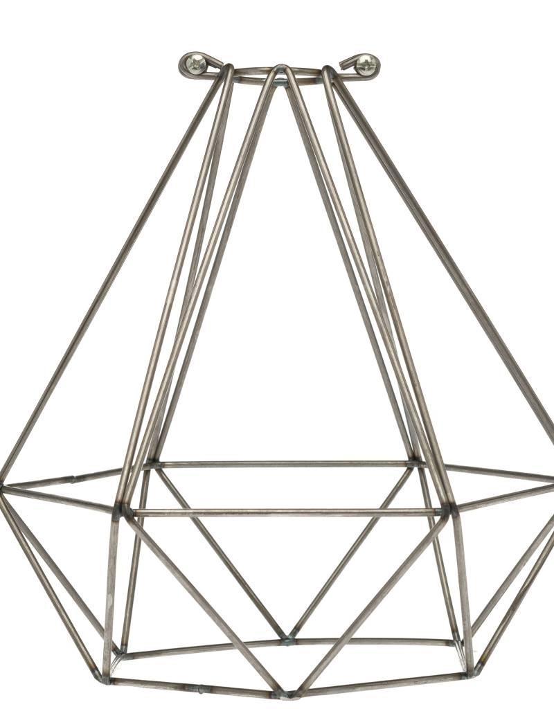 Color Cord Company Geometric Light Bulb Cage - Raw