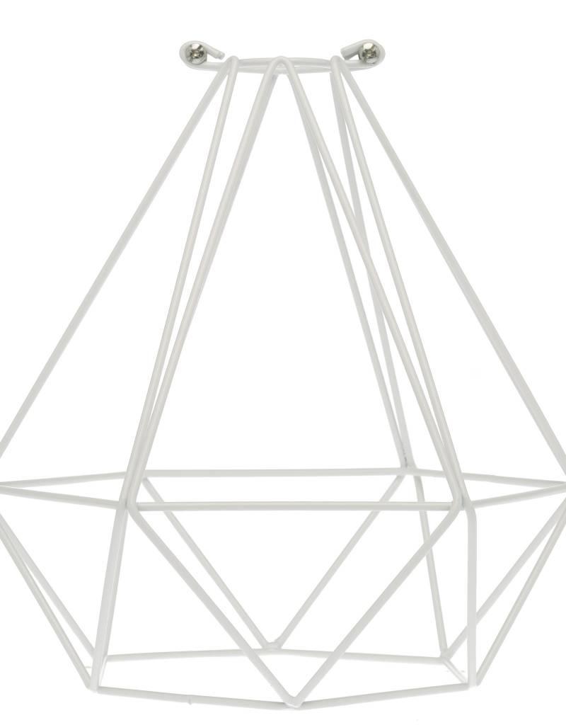 Color Cord Company Geometric Light Bulb Cage - White