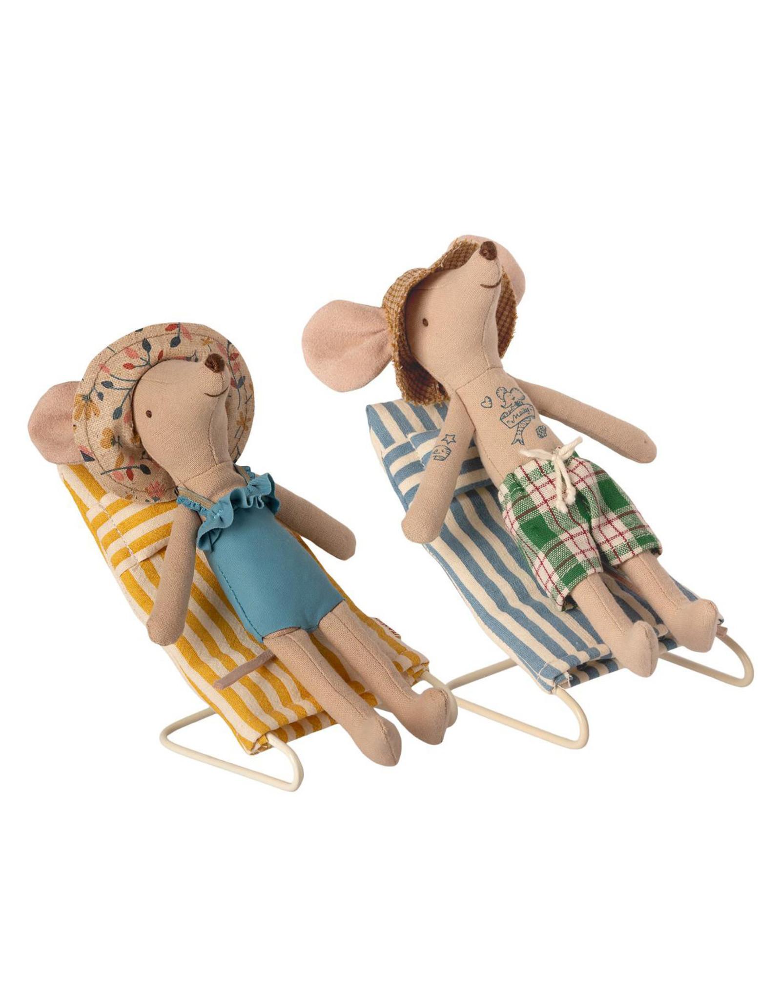 Maileg Mouse Beach Chairs