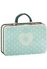 Maileg Metal Suitcase - Cream Polkadots