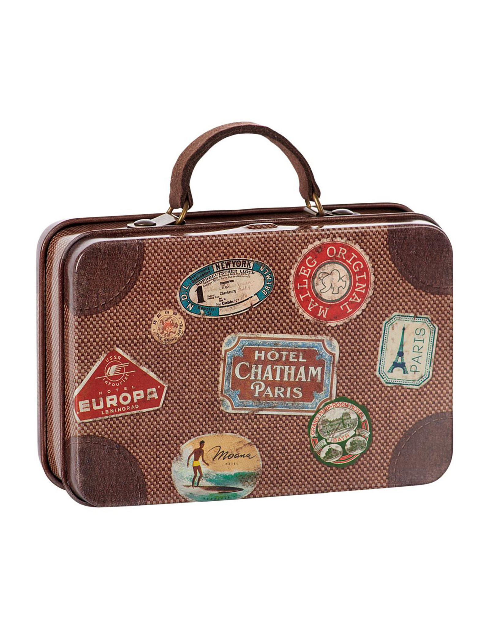 Maileg Metal Suitcase - Brown Well-Travelled