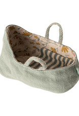 Maileg Carry Cot - Dusty Green