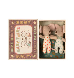 Maileg Baby Mice Twins in Box - Polkadots