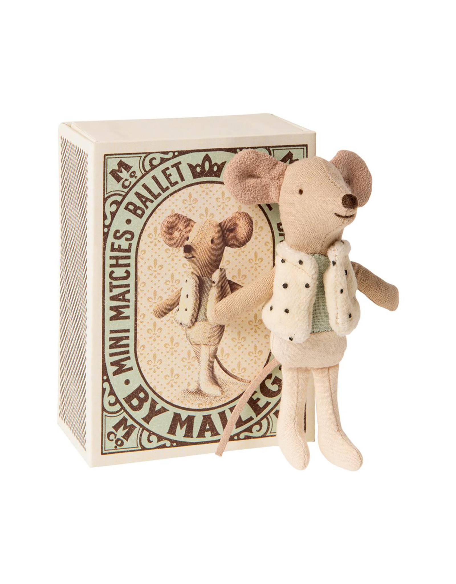 Maileg Dancer Little Brother Mouse in Box