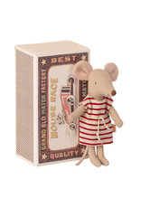 Maileg Big Sister Mouse in Box - Cherry Striped Dress