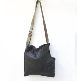 Engso Hand Crafted Large, Folded One-Piece Bag - Black + Brown