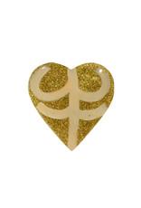 Entouquet Gold Glitter + Blush | Lilac Line Design Medium Heart