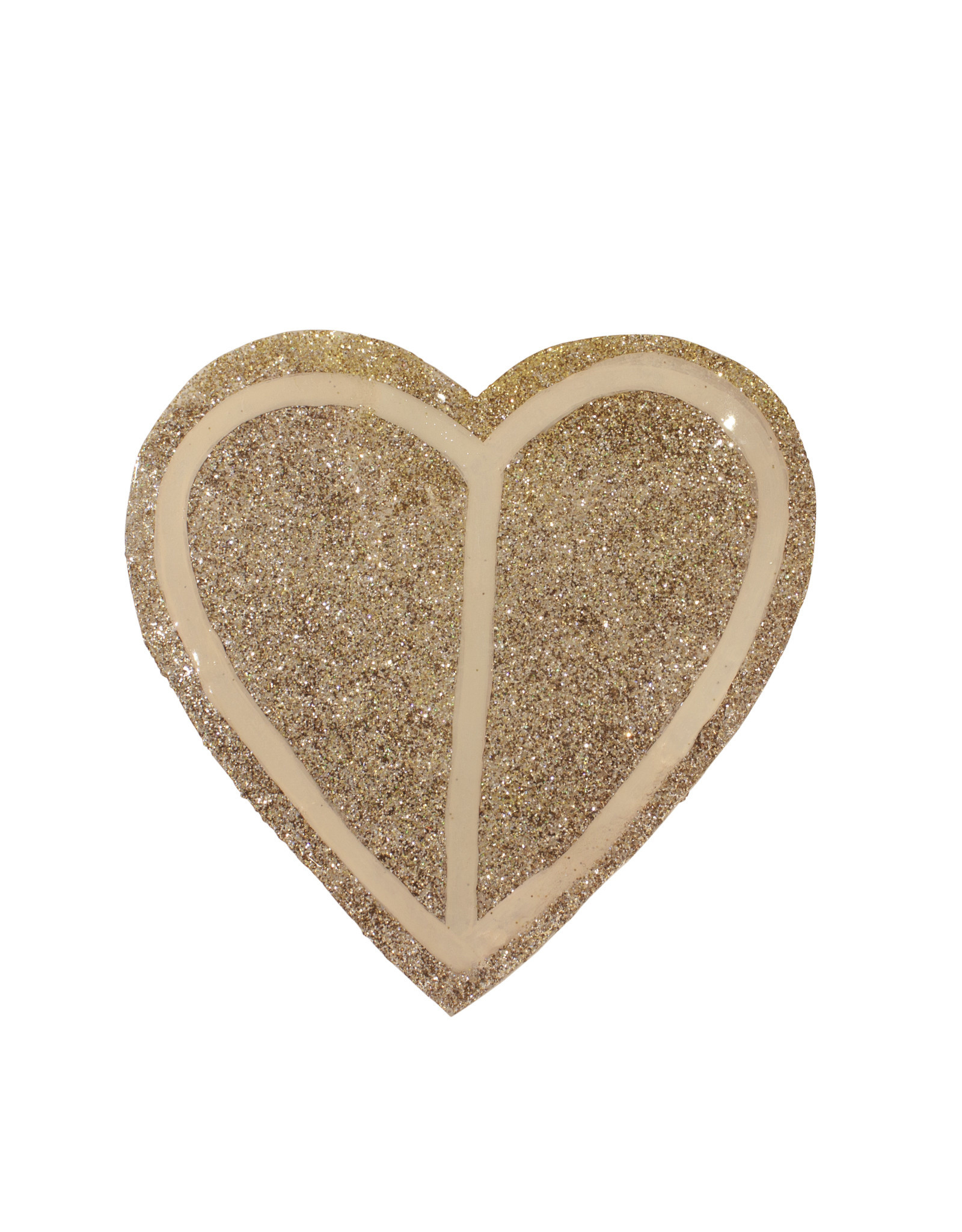 Entouquet Champagne Glitter + Blush Line Design Large Heart