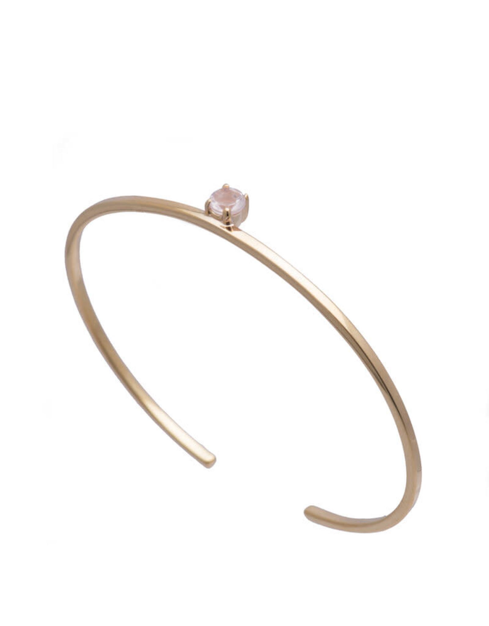 Sarah Mulder Jewelry Gold Obsession Bracelet - Rose Quartz
