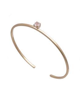 Sarah Mulder Jewelry Obsession Bracelet - Gold w/ Rose Quartz