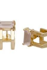 Sarah Mulder Jewelry Gold Catalyst Ear Cuffs - Rose Quartz