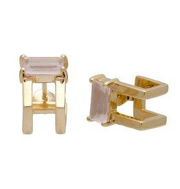 Sarah Mulder Jewelry Catalyst Ear Cuffs - Gold w/ Rose Quartz
