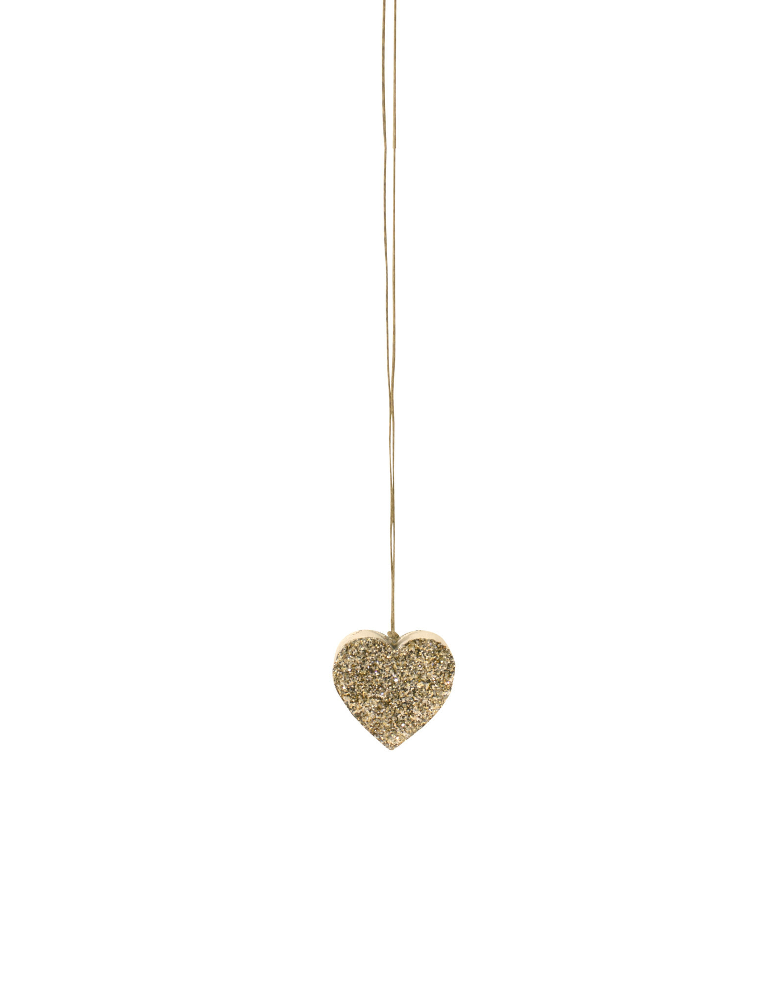 Entouquet Champagne Glitter Extra Small Heart on Hemp