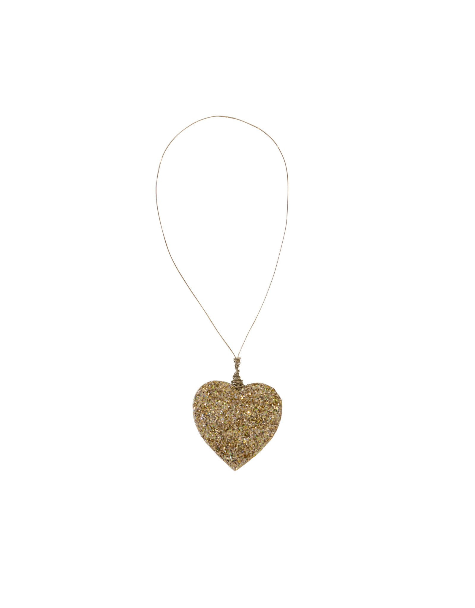 Entouquet Champagne Glitter Extra Small Heart on Wire