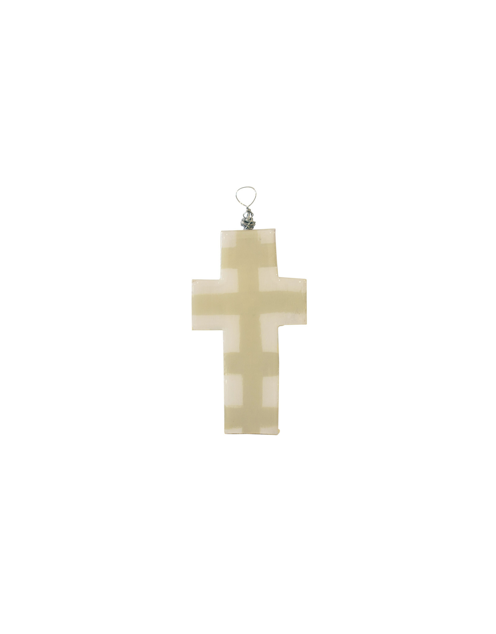 Entouquet Green + Cream Small Cross on Wire