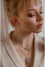 Sarah Mulder Jewelry Silver Lady Ear Climbers - Onyx