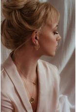 Sarah Mulder Jewelry Gold Cassie Studs - Rose Quartz