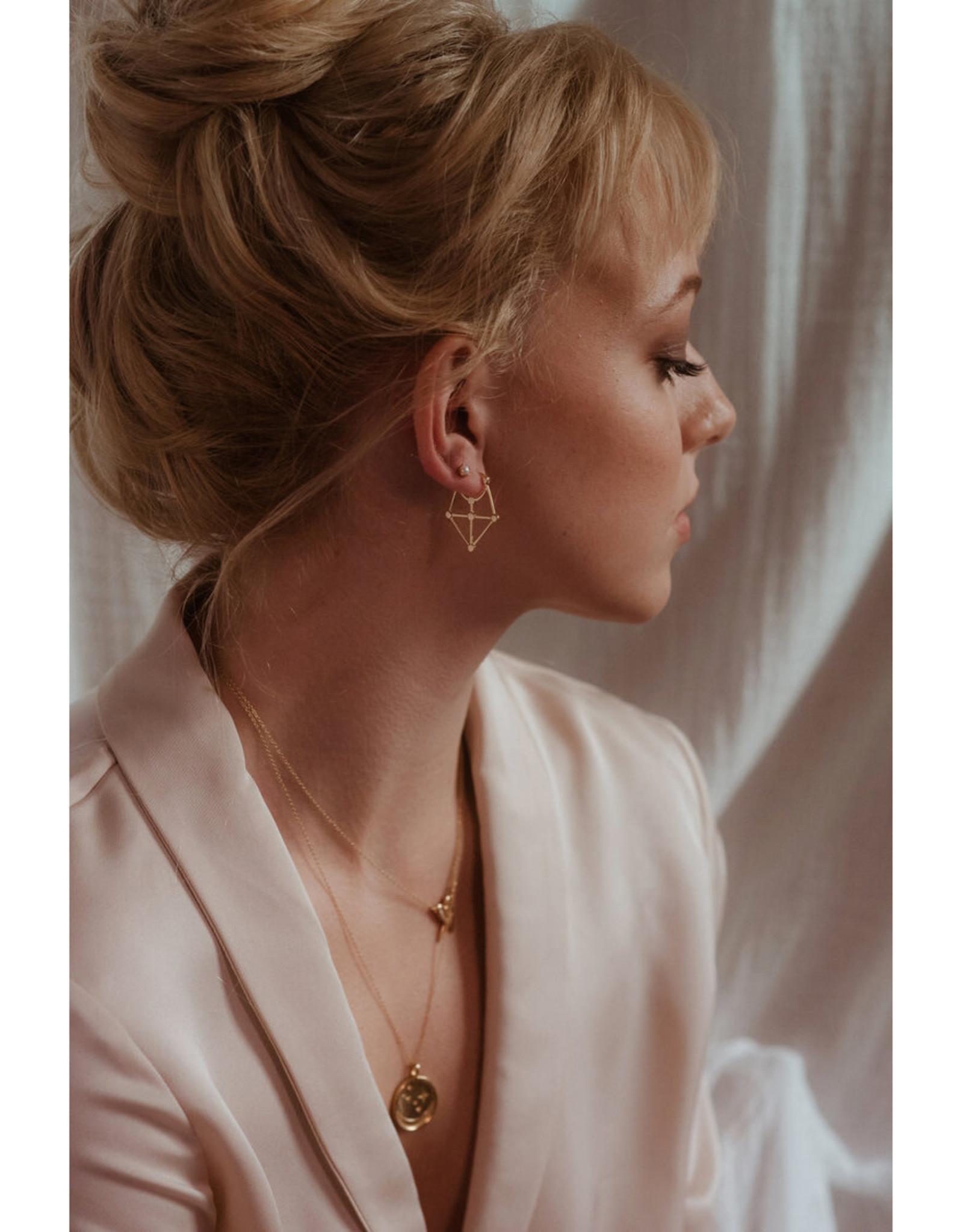 Sarah Mulder Jewelry Gold Cassie Studs - Onyx