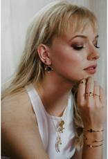 Sarah Mulder Jewelry Gold Cassie Studs - Pearl