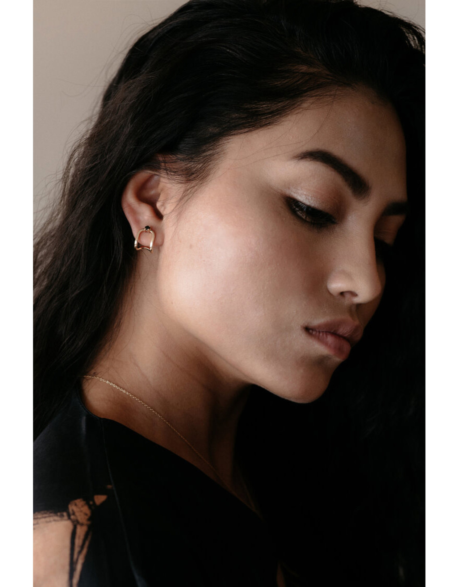 Sarah Mulder Jewelry Silver Nita Earcuffs - Moonstone