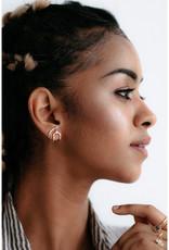 Sarah Mulder Jewelry Silver Nita Earcuffs - Onyx